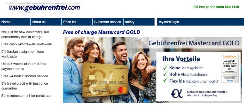 Homepage of Gebührenfrei