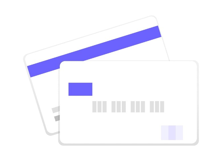 graphic of two credit cards