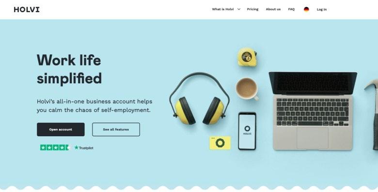 Holvi homepage