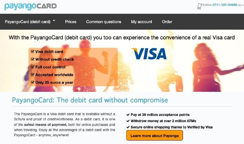 PayandgoCard homepage
