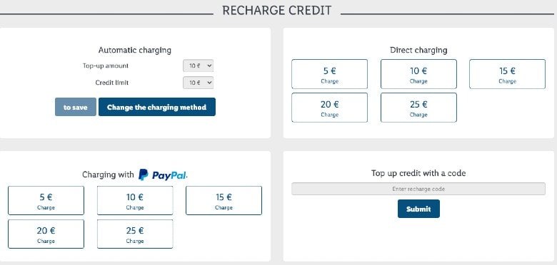 Lidl Connect recharging credit options