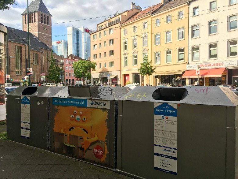 Cardboard waste containers Germany