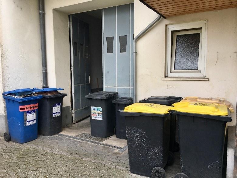 German trash cans