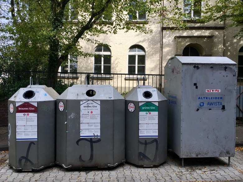 Glass Bottle Waste Containers Germany