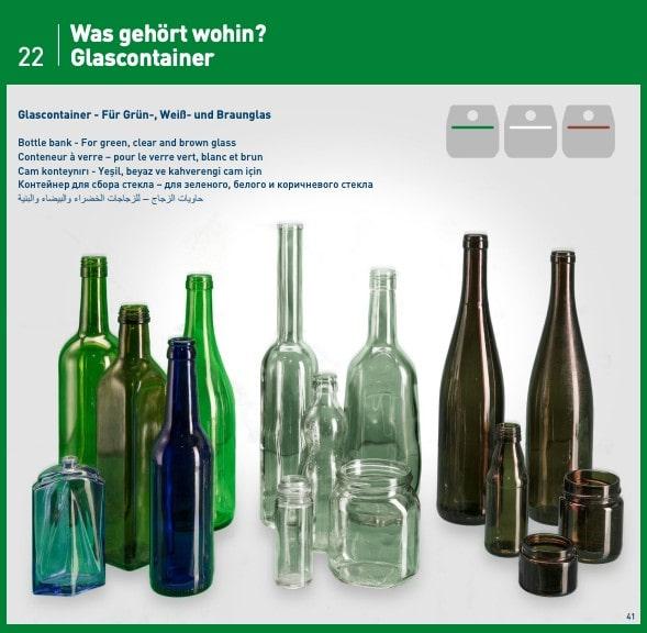 Glass Bottle trash guide Germany