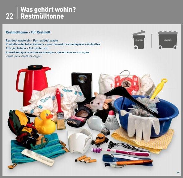 Residual trash guide Germany
