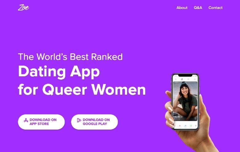 Zoe dating app homepage