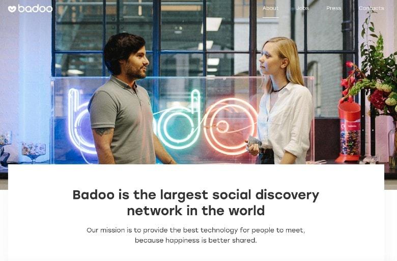 Badoo Dating App Homepage