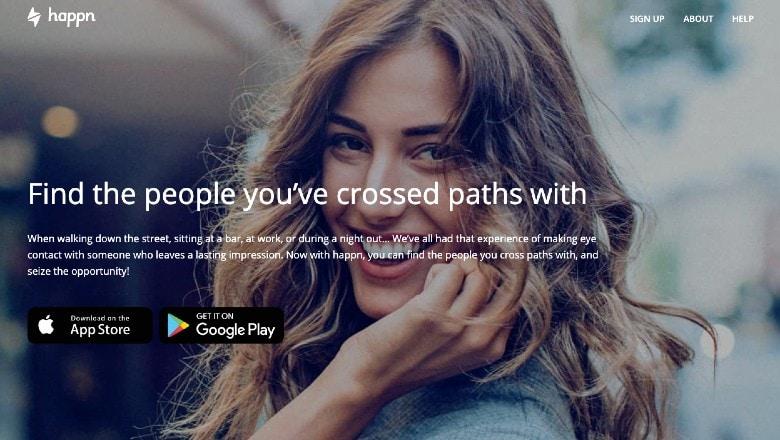 Happn dating app homepage