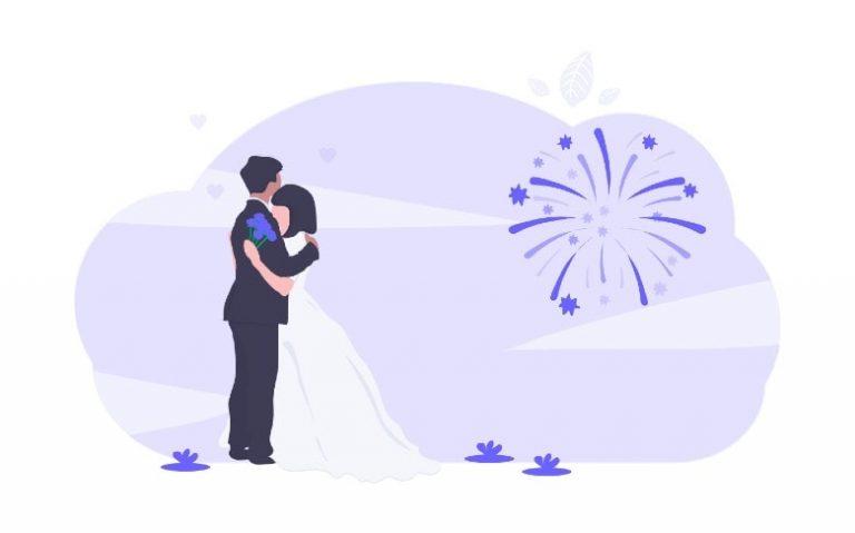 illustration of a wedding