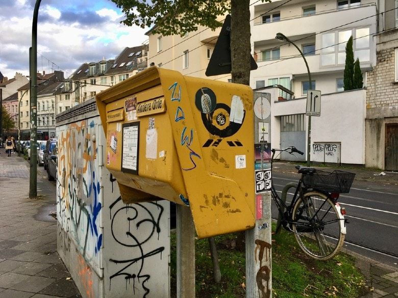 Letterbox on German street