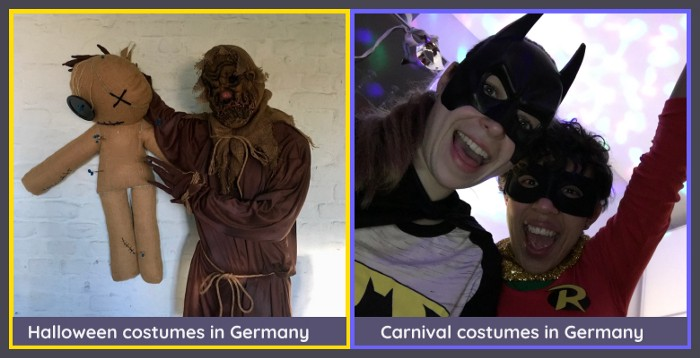 Halloween and Carnival costumes comparison in Germany
