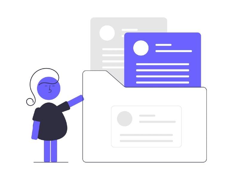 illustration of document folders