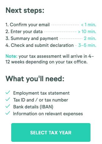 wundertax next steps for tax return