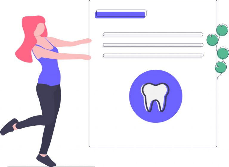 Illustration of dental insurance contract