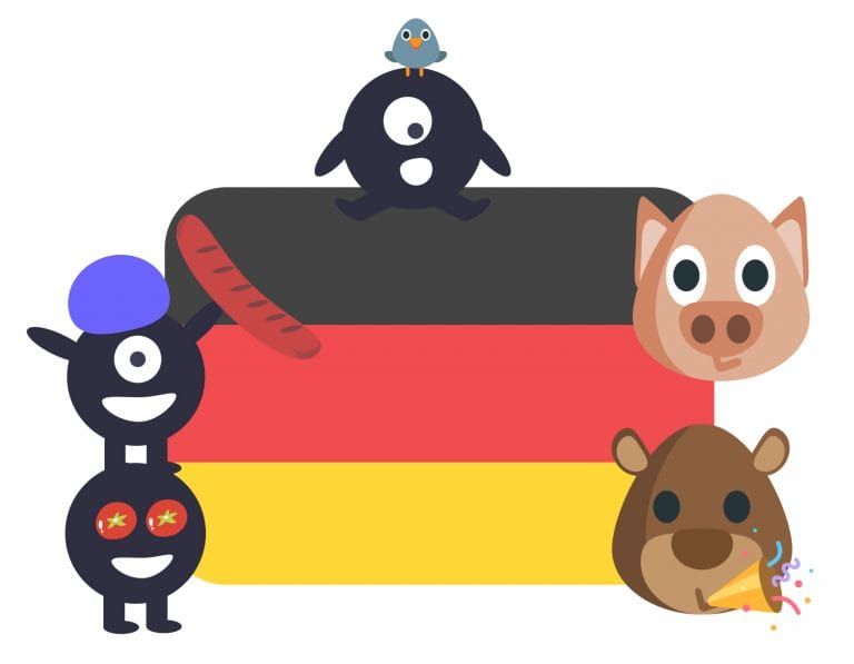 Illustration of German idioms in English