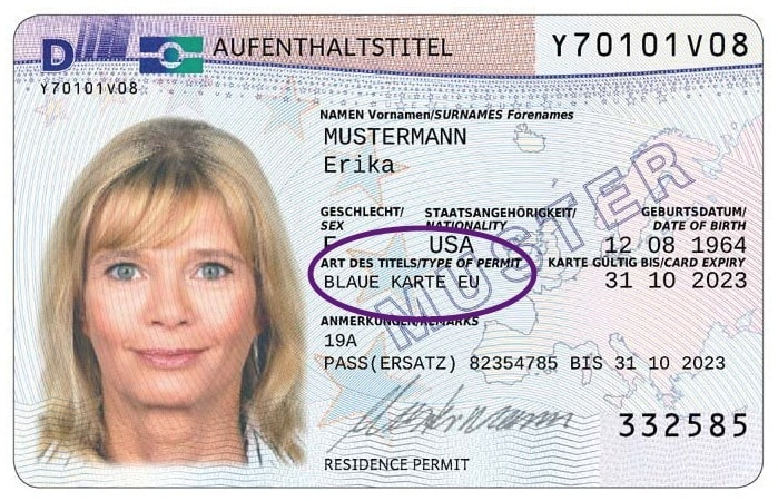 Example of German Blue Card