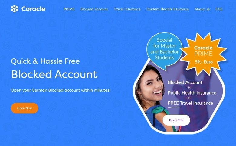 Screenshot of Coracle Homepage