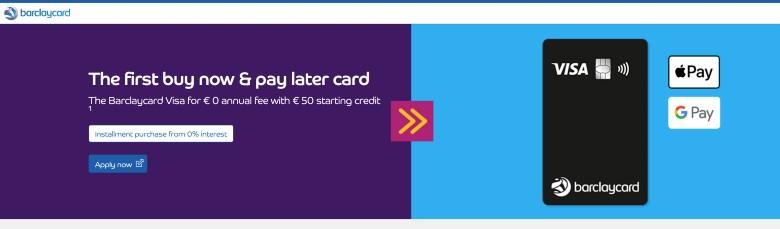 Barclaycard Visa Homepage