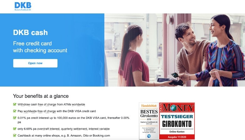 DKB Visa Homepage