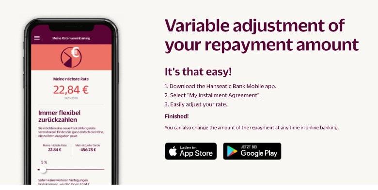 Hanseatic Bank GenialCard Homepage