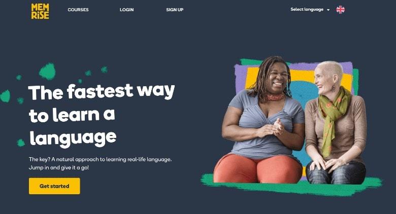 Memrise Homepage