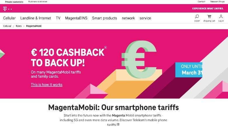 Telekom Mobile Homepage