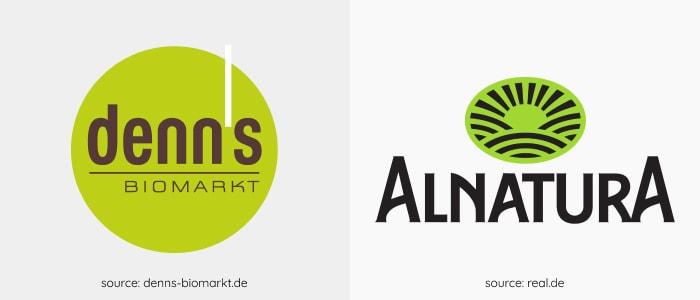 bio markets logos in Germany