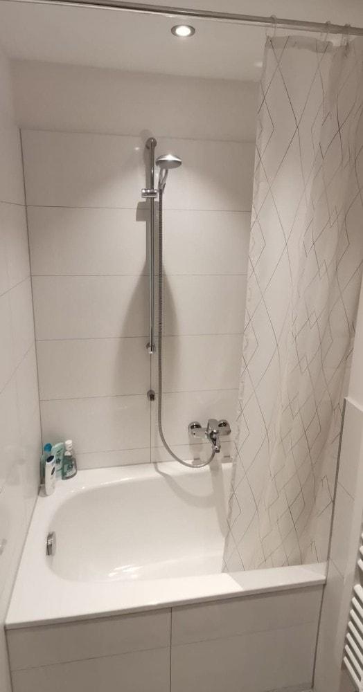 Typical German Shower in a Bathtub