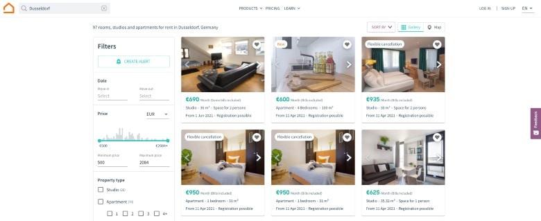 Rental Property Website for Germany
