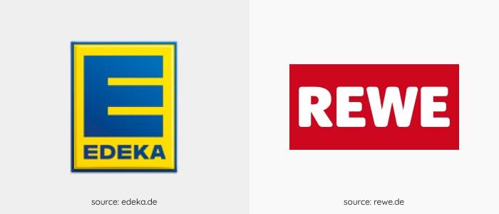 supermarket logos in Germany