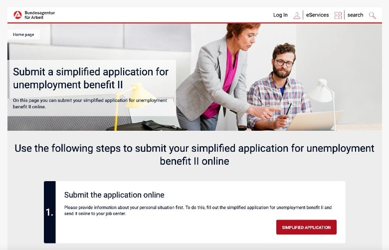 Unemployment benefit application in Germany