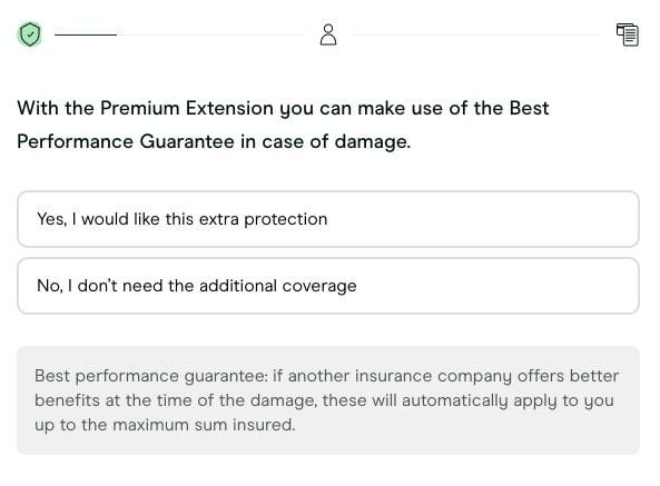 Screenshot of Getsafe's Best Performance Guarantee