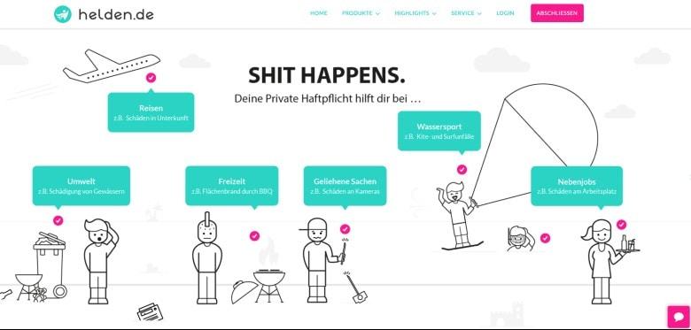 Screenshot of Helden Liability Insurance