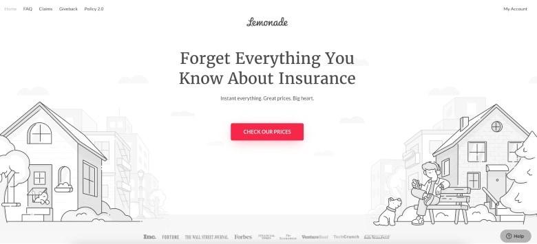 Screenshot of Lemonade Liability Insurance