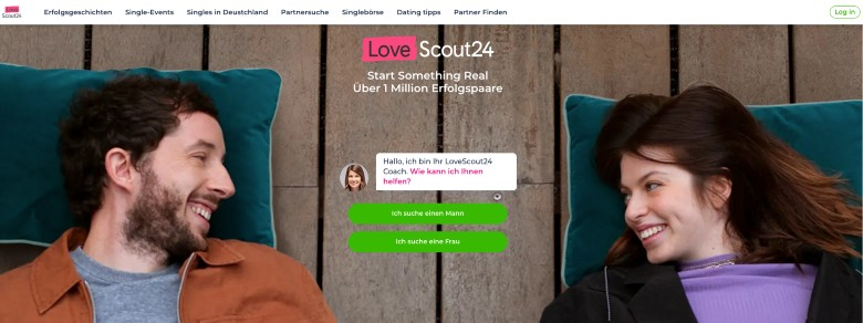 Screenshot of LoveScout24 Homepage