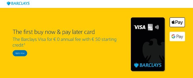 Barclays Visa Card Homepage